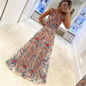 Wholesale High Quality Womens Dress New Mesh Bridesmaid Dresses Clothing Fashion Flower Embroidered Dress For Wedding Party