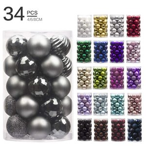 Wholesale 34pcs Christmas Ball Suits 4cm Christmas Decorations Tree Decoration Ball Shaped