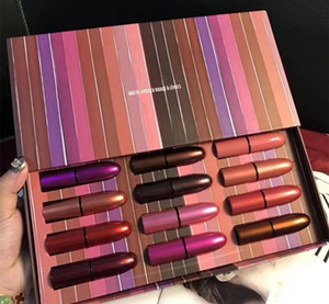 Wholesale New makeup Brand M Lipstick Set colors Lipstick Matte set with Gift Box set
