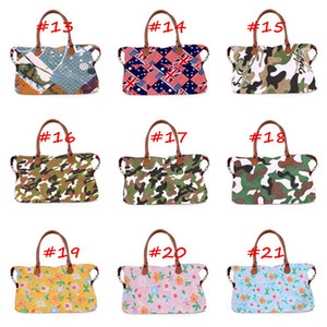 Wholesale flags checkered for sale - Group buy Buffalo Check Handbag Plaid Dots Flags Leopard Floral Print Travel Tote Luggage Bag Sports Yoga Duffle Bag Sarah Weekenders Handbag A42201