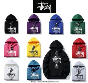 Wholesale 2019 Hot New Classic Men s Women s Hipster Sweatshirt Printing Current Hoodie Top Stussy NO