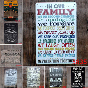 Wholesale Romantic English Poetry Vintage Metal Tin Signs Bar Coffee Pub Hotel Home Decor Metal Craft Gifts Poster Iron Painting