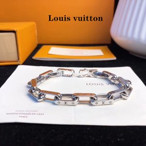 Wholesale Newest silver gold Men women Bracelets Big brand style charm bracelet Medusa Louis bracelet Chain plating color high end v l
