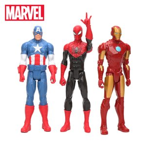 Wholesale 30CM Marvel Toys Avengers Infinity War SuperHeroes Captain America Ironman Black Spiderman PVC Action Figure Collectible Model