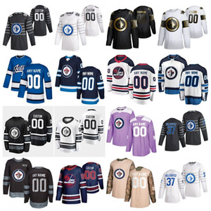 jets star al por mayor-2020 All Star Mark Scheifele Connor Hellebuyck Custom Winnipeg Jets Hockey Jerseys Kyle Connor Patrik Laine Blake Wheeler