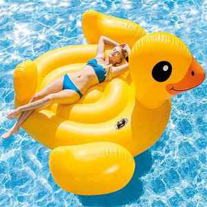 Wholesale Giant rubber duck floating row inflatable water mount environmental protection PVC Big yellow duck floating bed