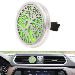 Hot selling 40MM Car Interior Outlet Air Vent Clip Essential Oil Diffuser Locket Clips With 5PCS Refillable Felt Pads