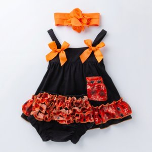 Halloween 3PCS Newborn Baby Girls Clothes Dress Headband Bloomers Girls TUTU underwear Panties Toddler Outfit Halloween Christmas on Sale