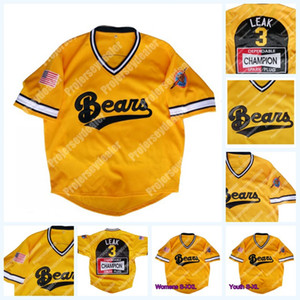 Wholesale news gold resale online - 3 Kelly Leak Bad News Bears Gold Go To Japan Baseball Jersey Tanner Boyle For Mens Womens Youth Double Stitched S XL