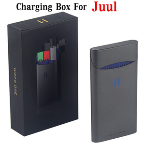 Wholesale Newest Original Hippo ONE power bank for JUUL Vape Pen mAh Portable E Cigarette Charging Pods Case Holder Box case easy take out
