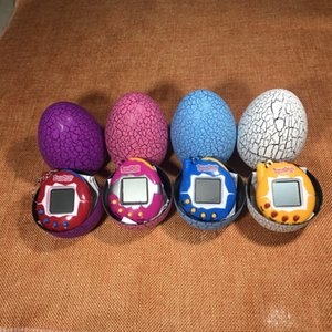 Wholesale 2019 Cool Design Dinosaur egg Virtual Cyber Digital Pet Game Toy Tamagotchis Digital Electronic E Pet Christmas Gift