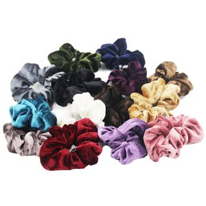 Wholesale Fashion Jewelry Jewelry Furling Retail Velvet Scrunchies elastic Spring Hair Bands Ties Ponytail Holder Hair Accessories