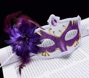 Wholesale New Halloween Mask Female Half Face Sexy Retro Cute Children Mask Ball Party Princess Adult Mask WL472