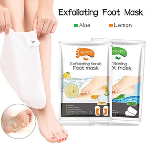 Lemon Aloe Foot Spa Treatments Foot Mask Socks Peel Off To Remove Dead Skin Moisturizing Health Foot Care 2 Pieces=1 Pair 54g