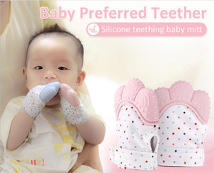 Wholesale Silicone Teether Baby Pacifier Glove Baby Teething Glove Newborn Nursing Mittens Kids Teether Chewable Nursing Beads Y285