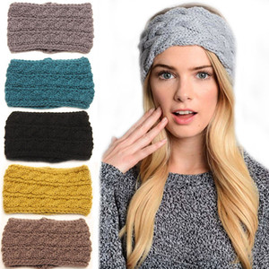 Winter Warm Head Wrap Wide Hair Accessories Women Knitted Headbands Fitness For Face Washing Turban