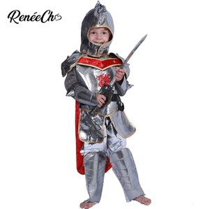 Wholesale Halloween Costume For Kids Boys Samural Warrior Costume Children Royal Knight Of Dragon Cosplay Christmas For Years