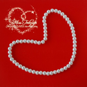 Wholesale 1pcs New Elastic Rope Children Beads Necklace Cute white Combination Environmental Beautiful Gifts bracelet pearl necklace