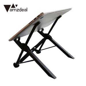 Wholesale amzdeal Folding Laptop Stand Portable Notebook Stand Bed Adjustable Folding Bracket Desktop For MacBook Table lapdesk car