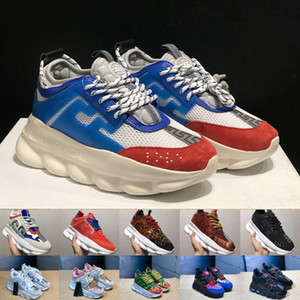 Wholesale New Chain Reaction Love Sneakers Sports Mens Ladies Fashion designer Casual Shoes Men Trainer Lightweight Link Embossed Sole With Dust Bag