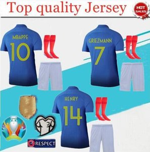 adult Mbappe 100th JERSEY POGBA France FFF 100th blue jerseys centenary jersey 2019 Centenaire Maillot 2019 football jersey