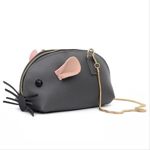 Wholesale Women s Cartoon Seashell Bag Small Mouse Chain Mini Handbag Handcuffs Change Mobile Phone Bag Ladies Purses Package