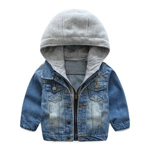 Retail Boys girls patchwork casual denim jacket winther kids designer jackets Fashion luxury coat coats outwear children boutique clothing on Sale