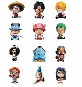 Wholesale Japanese Anime One Piece Characters Mini Figure Set the Straw Hat Pirates Model Toys