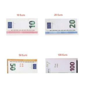 Wholesale 100pcs set Prop Copy Fake Money Kids Learning Tool Toys for Films Video 10 20 50 100 Euro 100 Dollar