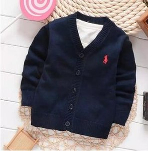 Wholesale 2018 Luxury Children's sweater Classic new cotton warm children's sweater boys girls Sweaters Kids sweater