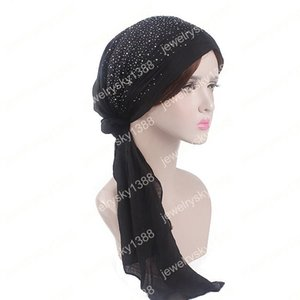 Wholesale Fashion Women Lady Girl Gypsophila Drilled Cotton Turban Cap Garden Style Scarf Hot Sale