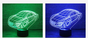 Wholesale Manufacturers W audi auto small night lights button D creative seven color LED lights
