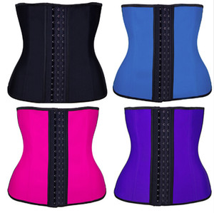 100% Latex Waist Trainer Corset 9 Steel Bone Shapewear Body Shapers Women Corset Belt Waist Shaper Cinta Modeladora