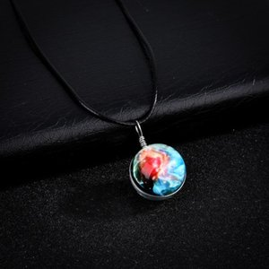 Wholesale Hot Selling Accessories Universe Dream Starry Sky Time Stone Necklace Handmade Night Light Planet Pendant Necklace