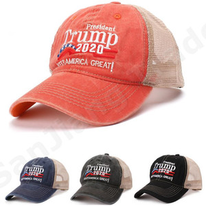 Trump 2020 Campaign Mesh Cap Designer Keep America Great MAGA Baseball Caps Summer Trucker Hat Adjustable Travel Sports Snapback Cap A6406