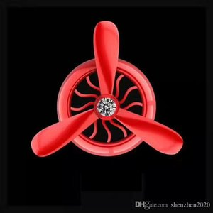 Wholesale New Car Air Conditioner Two Leaves Three Leaves Outlet Vent Clip Mini Fan Aircraft Head Air Freshener Perfume Fragrance Scent