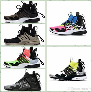 Wholesale NPSTHF Arrival ACRONYM Lab Presto Mid Running Shoes For Men Women Racer Pink Yellow Grey Hot Lava Prestos Shoe Sport Trainers Sneakers