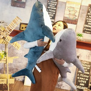 Wholesale 0 m m1 m Shark Plush Toy Lifelike Shark Pillow Stuffed Soft Fish Doll Funny Toys For Kids Children Christmas Birthday Gifts