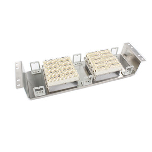 Wholesale Freeshipping Rack Stainless steel pairs telephone patch panel Krone voice module VDF Distribution Frame for inch standard cabinets