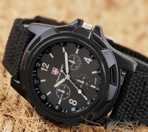 Wholesale New Cool Gemius Mens Watches Army Racing Force Military Sport For Men Fabric Band Knight Watch Sports Canvas Gemius army Nylon Watches