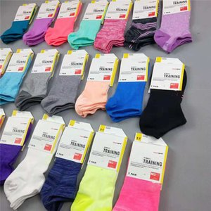 Wholesale Women U&A Ankle Socks Under Low Cut Sports Socks Candy Color Anklet Short Stockings Sock Slippers Brand Girls Running Hosiery with Tag