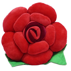Wholesale 35CM Stuffed Cotton Valentine s Day Rose Pillows Presents for Wife Girlfriend Red Blue Plush Flower Cushion Wedding Gifts