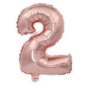 Wholesale promotional gift Inch Helium foil Air Number Balloon rose gold Inflatable Balloons Birthday Wedding Decoration Event Party balloons
