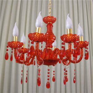 Wholesale weddings venues for sale - Group buy new style The new red acrylic crystal droplight wedding ceremony pavilion venue decoration decoration props wedding road guide decor0884