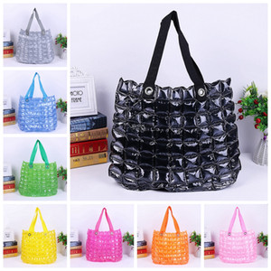 Wholesale Fashion Inflatable Handbags Women Waterproof Bag Zipper Solid Color PVC Inflatable Bags Beach Shopping Lady Candy Color Bubble Bag GGA2634