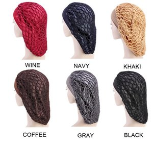 Wholesale mesh for hair for sale - Group buy Fashion Wide Band Mesh Hair Bonnet Cap Sleeping Cap Comfortable Night Sleep Hat Ladies Turban for Women Hair Care