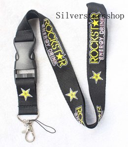 Wholesale Beautiful Rockstar Lanyard Keychain Key Chain ID Badge cell phone holder Neck Strap