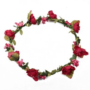 Wholesale Flowers Wreaths Headwear Decoration Bride Flower Headband Wedding Decorative Floral Garland Hair Band Artificial Woman Decor Christmas