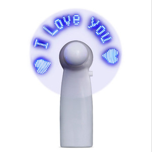 Wholesale Mini USB Handheld Fan Flexible LED flashing fan with LED light Desktop Cooling Gi Design Portable USB Rechargeable mah Battery Speed