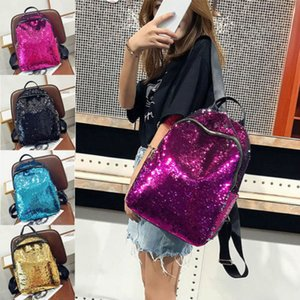 Girls Sequins Backpack Glitter Bling School Travel Rucksack Bag Ladies Solid Sequined Hot Backpacks Girls Hot Sale